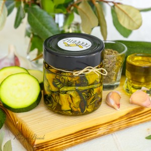 Courgettes en huile d'olive extra vierge