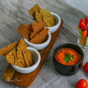 Crackers Escalivada