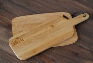 Set of two bamboo cutting boards Frrrutiz